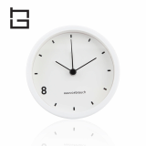 alarm movement stainless steel table clock