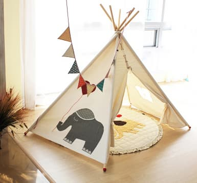 an elephant indian tent teepee tent kids toy. Black Bedroom Furniture Sets. Home Design Ideas