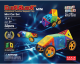 Click Block_ Magnet educational toy 2Dmini Minicar Set 32pcs