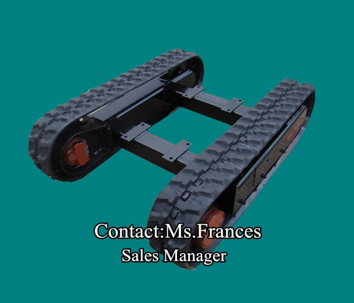 2ton crawler undercarriage rubber track frame