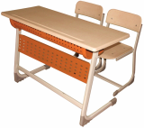 Inci Double School Desk With Panell