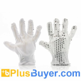 Color Changing LED Gloves (6 Flashing Modes, Silver Glitters, 13000MCD)