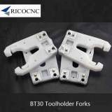 White Plastic BT 30 Tool Changer Holder Clips for BT30 ATC