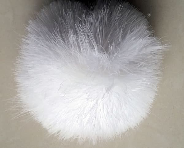feather christmas ball