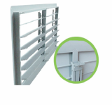 PVC shutter with linkage