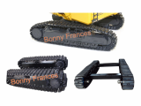 Retractable rubber crawler undercarriage