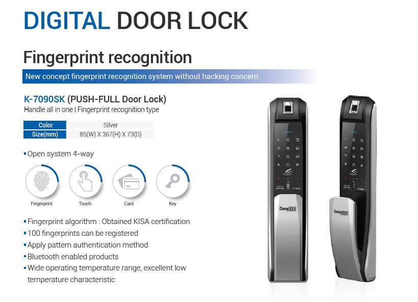Digital Door Lock K 7090sk Tradekorea
