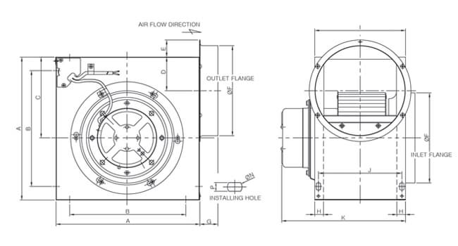 Korea centrifugal fan drawing-fanzic