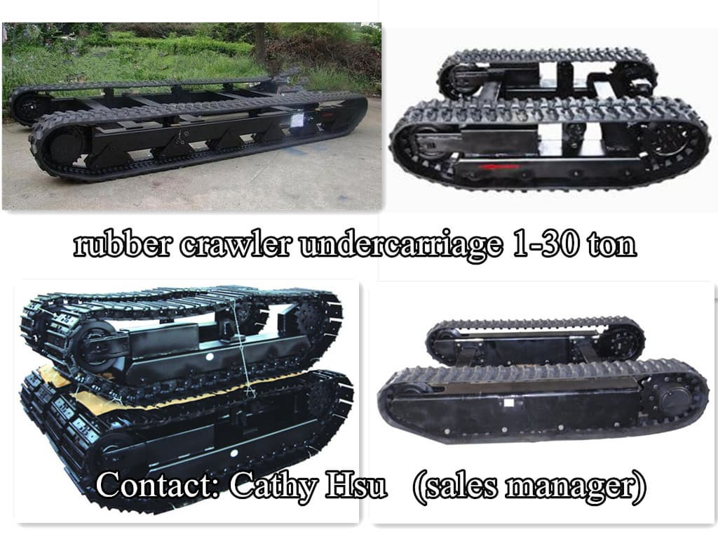 Rubber Crawler Track Undercarriage With Angle From Pioneer