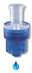 Luer lock + anti-siphon valve