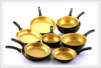 Kopan Gold Ceramic Frypan Wok Tradekorea