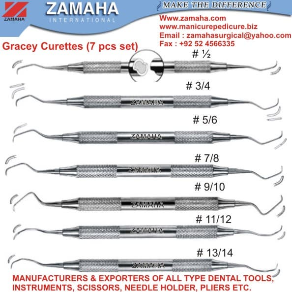 Gracey Curette, Scaler, Explorer, probe, Filling Instruments, mirror handle