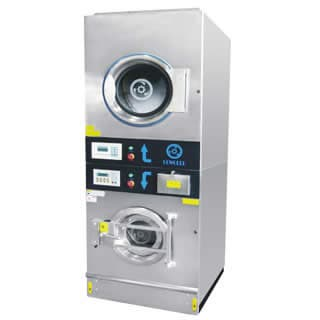 commercial type stack washer and dryer machine-for laundry shop,factory commercial use