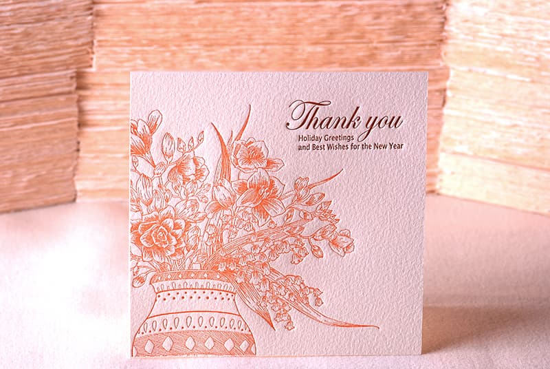 Handmade Letterpress Card, Greeting Card, Thank You Card, New Year Card including Envelopes_1.jpg