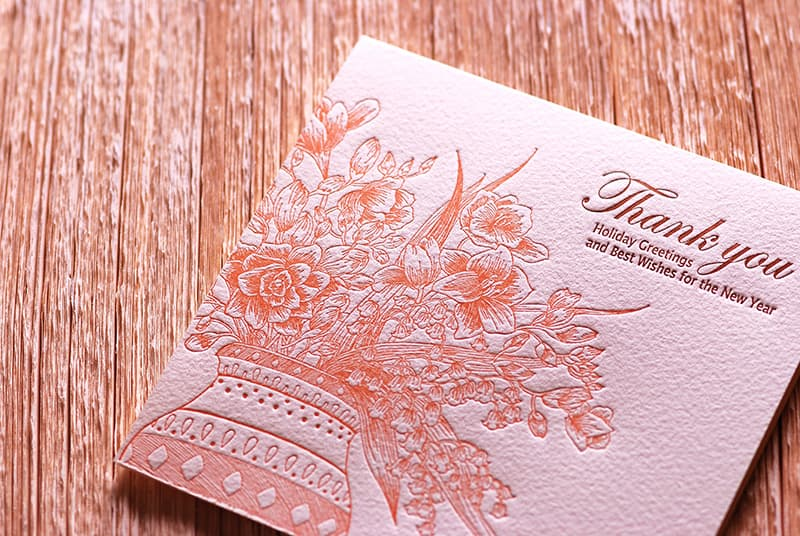 Handmade Letterpress Card, Greeting Card, Thank You Card, New Year Card including Envelopes_4.jpg