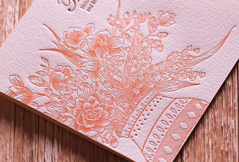 Handmade Letterpress Card, Greeting Card, Thank You Card, New Year Card including Envelopes_2.jpg