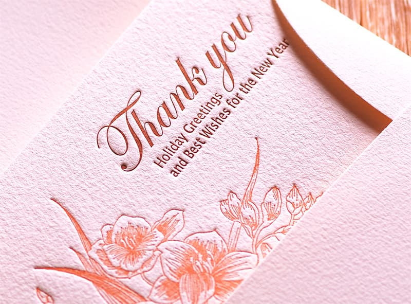 Handmade Letterpress Card, Greeting Card, Thank You Card, New Year Card including Envelopes_3.jpg