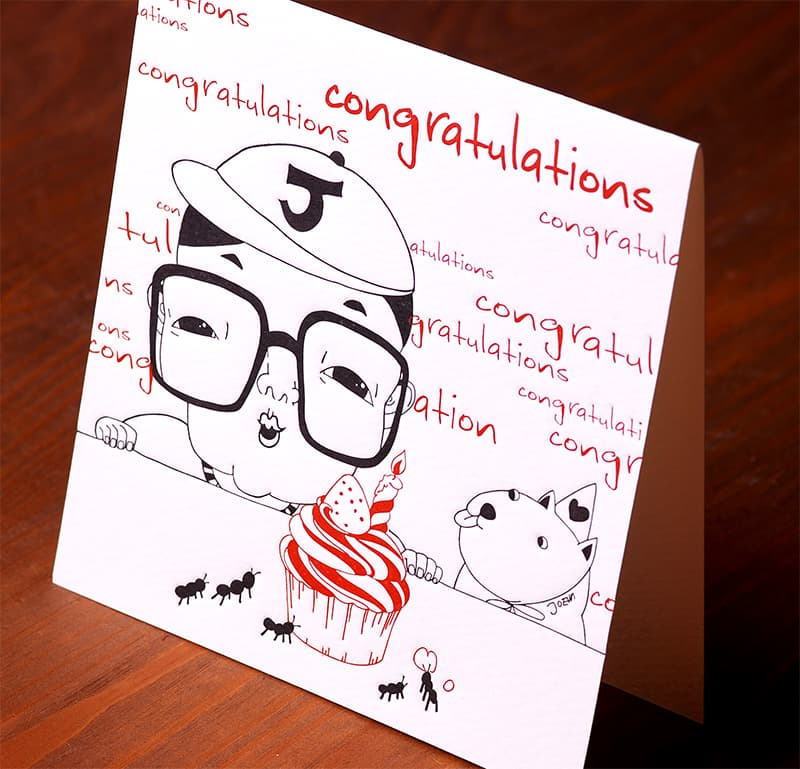 Handmade Letterpress Card, Congratulation Card including Envelopes_2.jpg