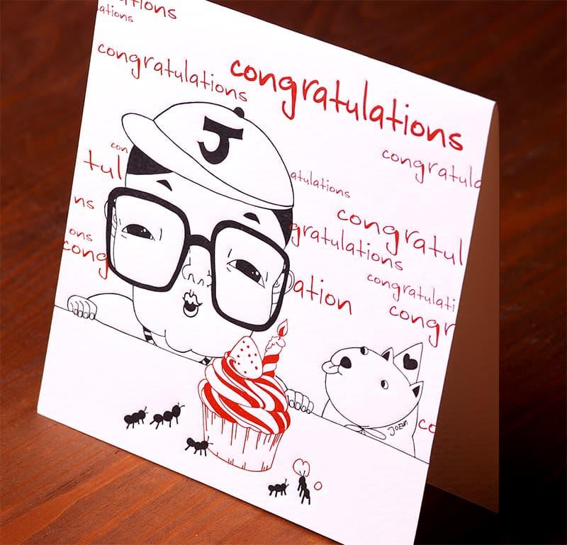 Handmade Letterpress Card, Congratulation Card including Envelopes_2.jpg