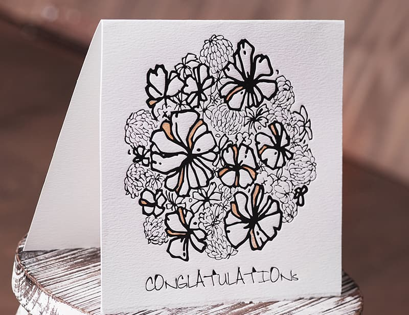 Handmade Letterpress Card, Conglatulation Card including Envelopes_1.jpg