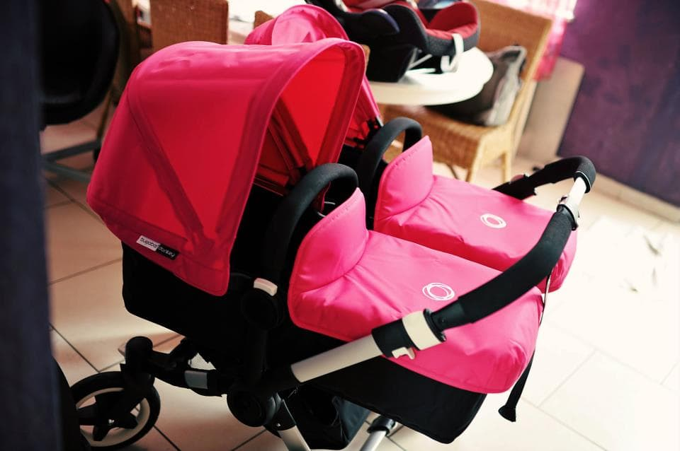 Portable Chair With Canopy Bugaboo Donkey Twins duo stroller set from baby splash ltd ...