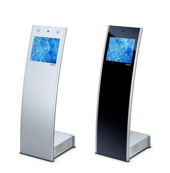 Types Of Exhibition Stand Design : Quot self service touch screen kiosk hjl b tradekorea
