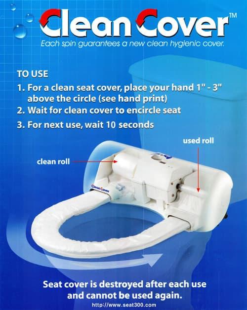 Superb Auto Sensor Sanitary Toilet Seat Cleancover Tradekorea Alphanode Cool Chair Designs And Ideas Alphanodeonline