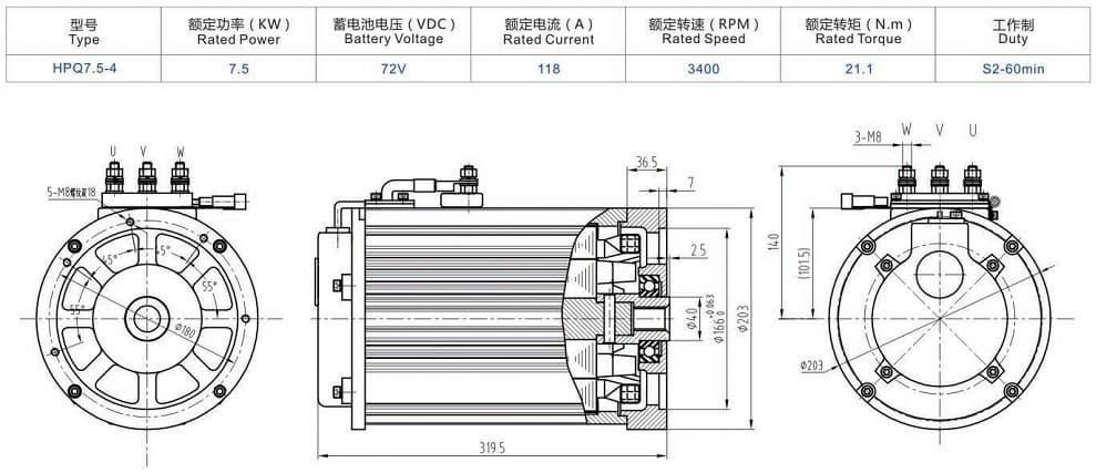 variable speed motor 7 5kw from foshan shunde green motor