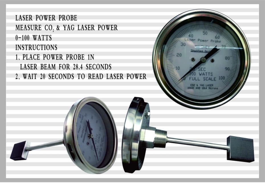 Laser Power Meter : Co laser power meter probe watts from bell llc