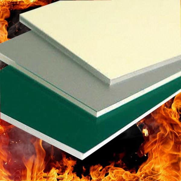 B1 standard fireproof aluminum composite panel from for Aluminium composite panel interior decoration