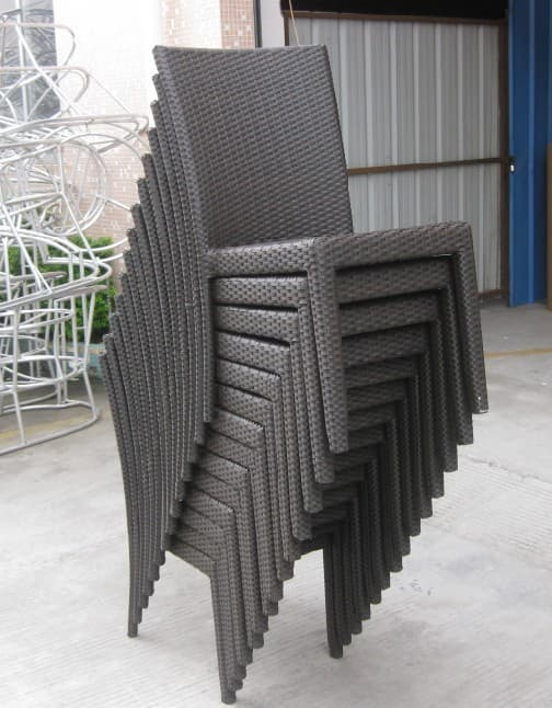 Product Thumnail Image Zoom Outdoor Furniture Rattan Wicker Stackable