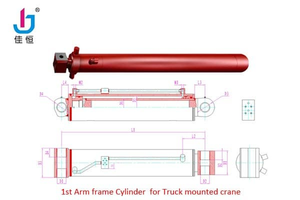 Hydraulic Life Support : Hydraulic cylinders for truck mounted crane from hubei