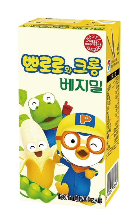 <strong>Pororo</strong> and Crong banana flavor Vegemil