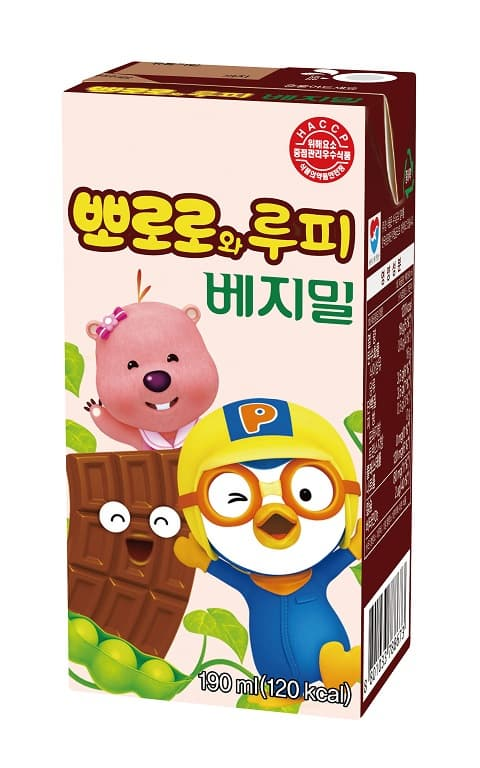 Pororo and Loopy Choco flavor Vegemil