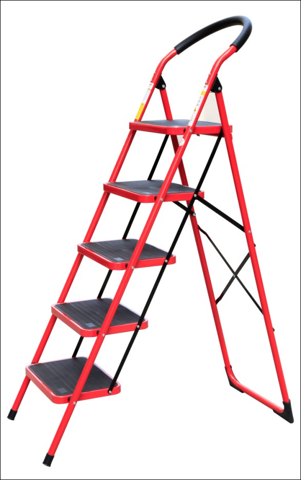 steel household ladder steel ladder step ladder home ...