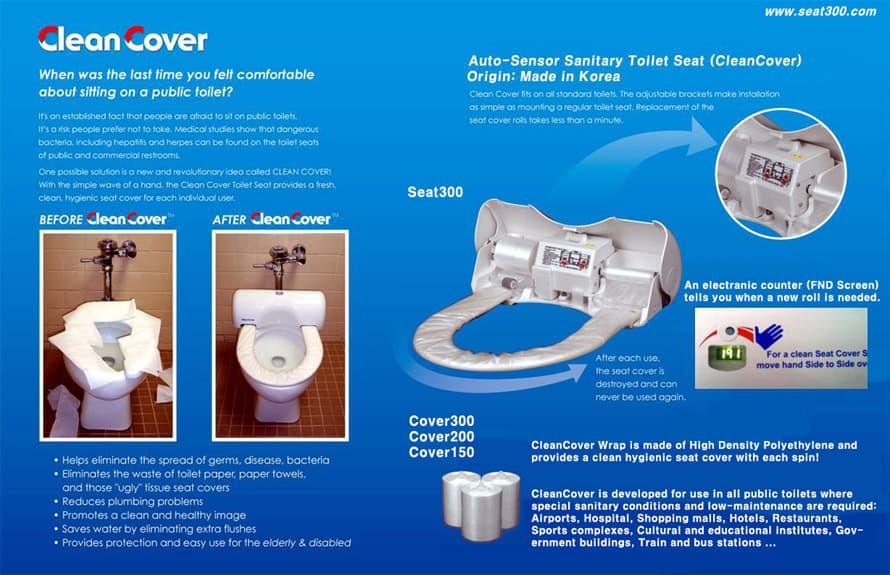 Peachy Auto Sensor Sanitary Toilet Seat Clean Cover Tradekorea Alphanode Cool Chair Designs And Ideas Alphanodeonline
