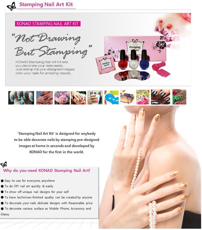KONAD Stamping Nail Art Kit from KONAD Co., Ltd. B2B marketplace ...