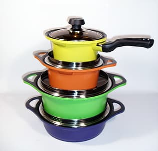 Diamond Coating Aluminum Die Casting Cookware Casserole
