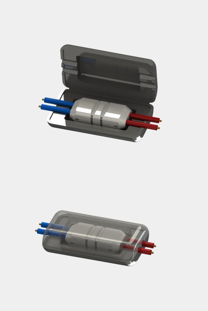 Electrical crimp connector for fuse box fork