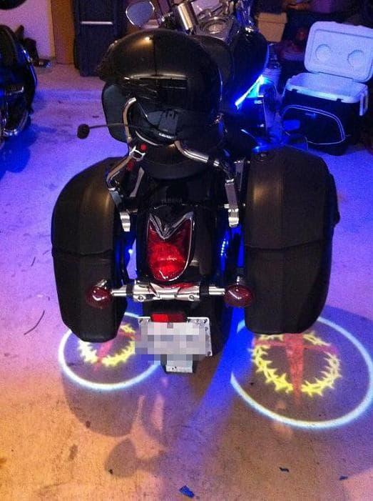 Led Ghost Rider Lights For Motorcycles Custom Logo