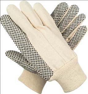 Canvas PVC Dotted Glove | tradekorea