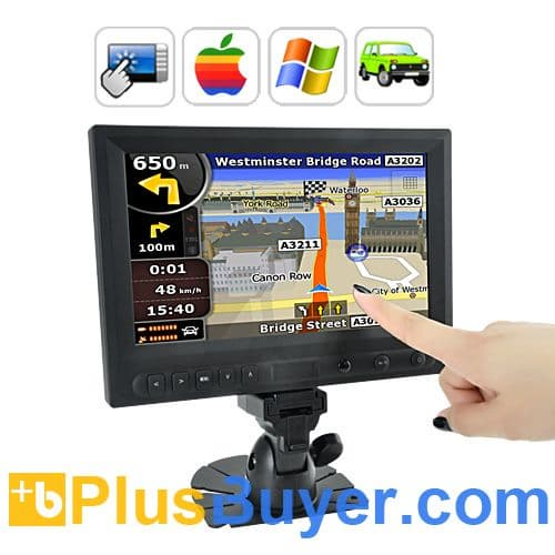 8 Inch LCD Touchscreen Monitor for Automobiles - AV/VGA/HDMI In