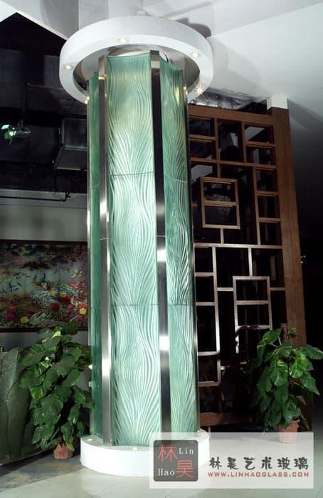 Fused Glass Pillar Tradekorea