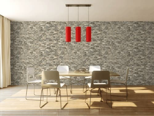 124 2 3D design brick stone rock pvc vinyl wall decoration