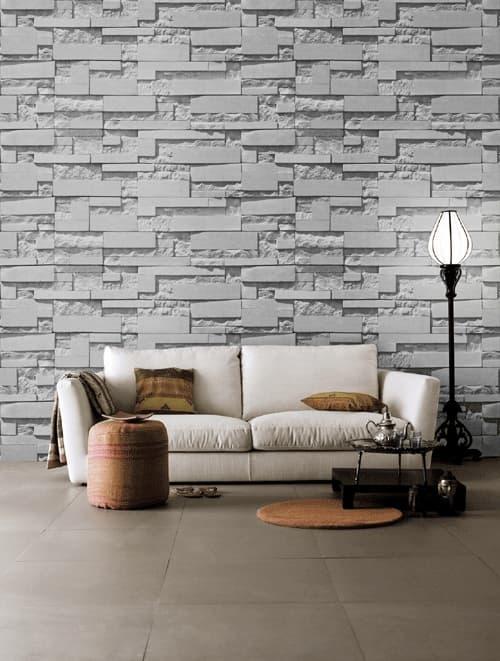 128 1 3D design brick stone rock pvc vinyl wall covering