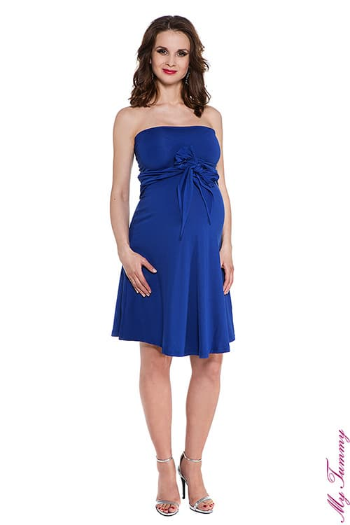 pregnancy clothing Maternity dress Marylin cobalt blue 3.jpg