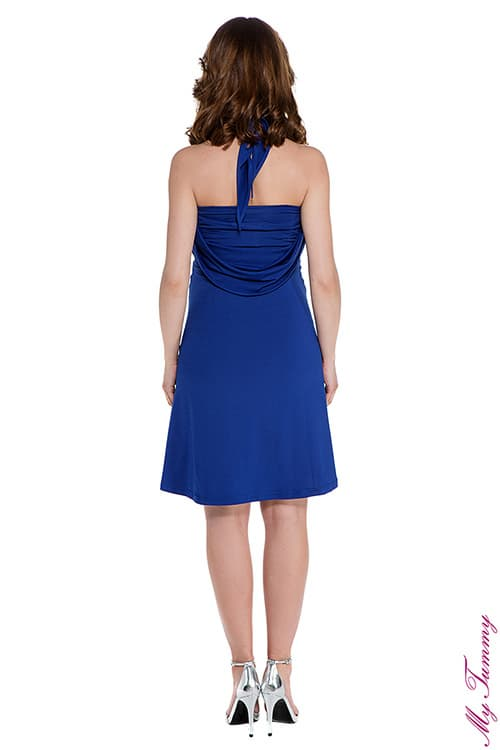 pregnancy clothing Maternity dress Marylin cobalt blue back.jpg