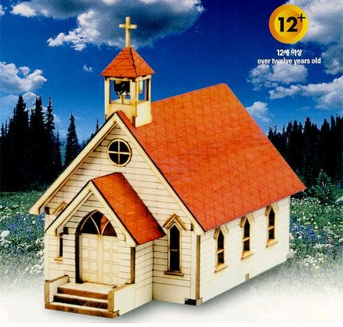 Toys For Church : Western church made diy toy craft gift model from