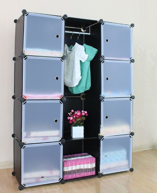 Dress Cabinets For Success: DIY Plastic Storage Closet