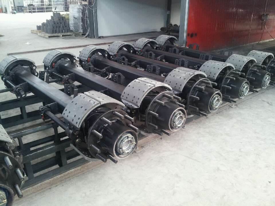 Semi Axle Hubs : Germany type semi trailer axle from shandong fuhua co